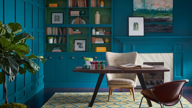 """With perhaps a nod to the complex and differing views of the world today, Sherwin-Williams' 2018 Color of the Year is """"Oceanside,"""" a """"deep color that offers a sense of the familiar with a hint of the unknown,"""" according to the Sherwin-Williams description."""