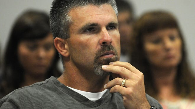 Former major league baseball player Chad Curtis appears in court in 2012.