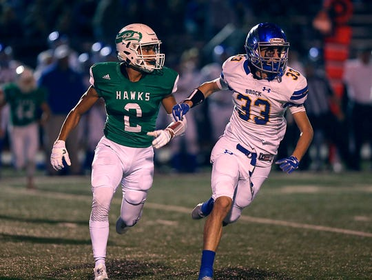 Wall's Lucas Hurtado keeps pace with Brock's Tommy