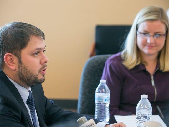 U.S. Rep. Ruben Gallego, D-Ariz., and his wife, Phoenix