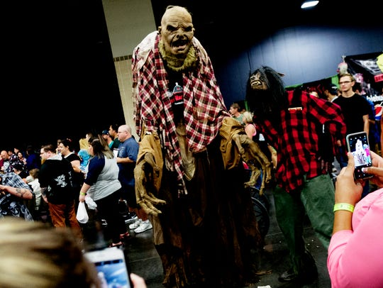 Cosplayers walk the aisles at Creepycon at the Knoxville