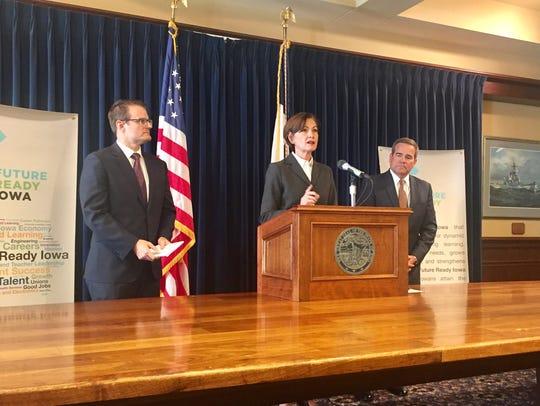 Gov. Kim Reynolds discusses the Future Ready Iowa program