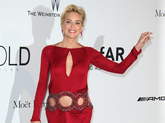 Sharon Stone attends amfAR's 21st Cinema Against AIDS Gala.