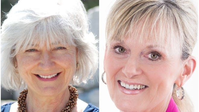 Lynn Stull (left) and Karen Spiegelberg are vying for the city of Oconomowoc's District 1 aldermanic seat.