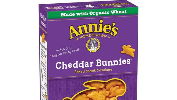 Annie's Homegrown cheddar bunnies are made with real