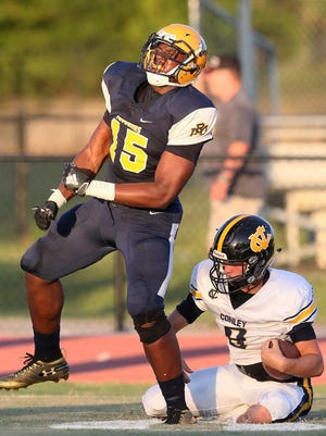 Rocky Mount defensive end Keeshawn Silver is one of many top senior players in North Carolina considering skipping their final prep campaign since season has been moved to spring due to COVID-19 outbreak.