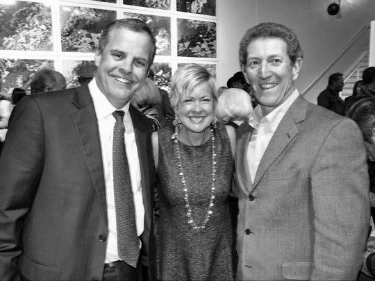 Former Times Publisher Pete Zanmiller, Gannett Louisiana Regional President Judi Terzotis and Craig Durrett at a recent Times event.