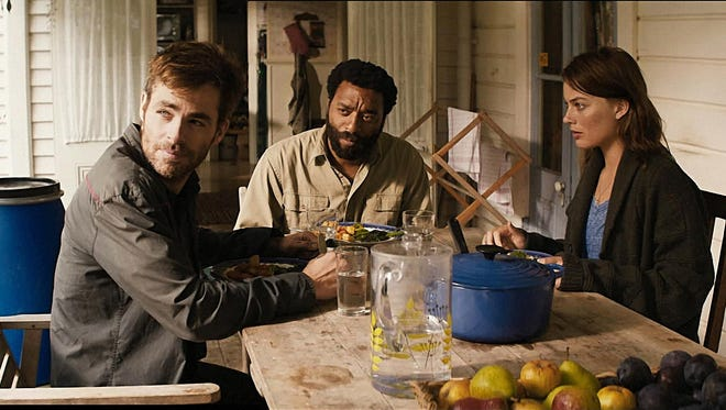 "Chris Pine, from left, Margot Robbie and Chiwetel Ejiofor are the last people on Earth in ""Z for Zachariah."""