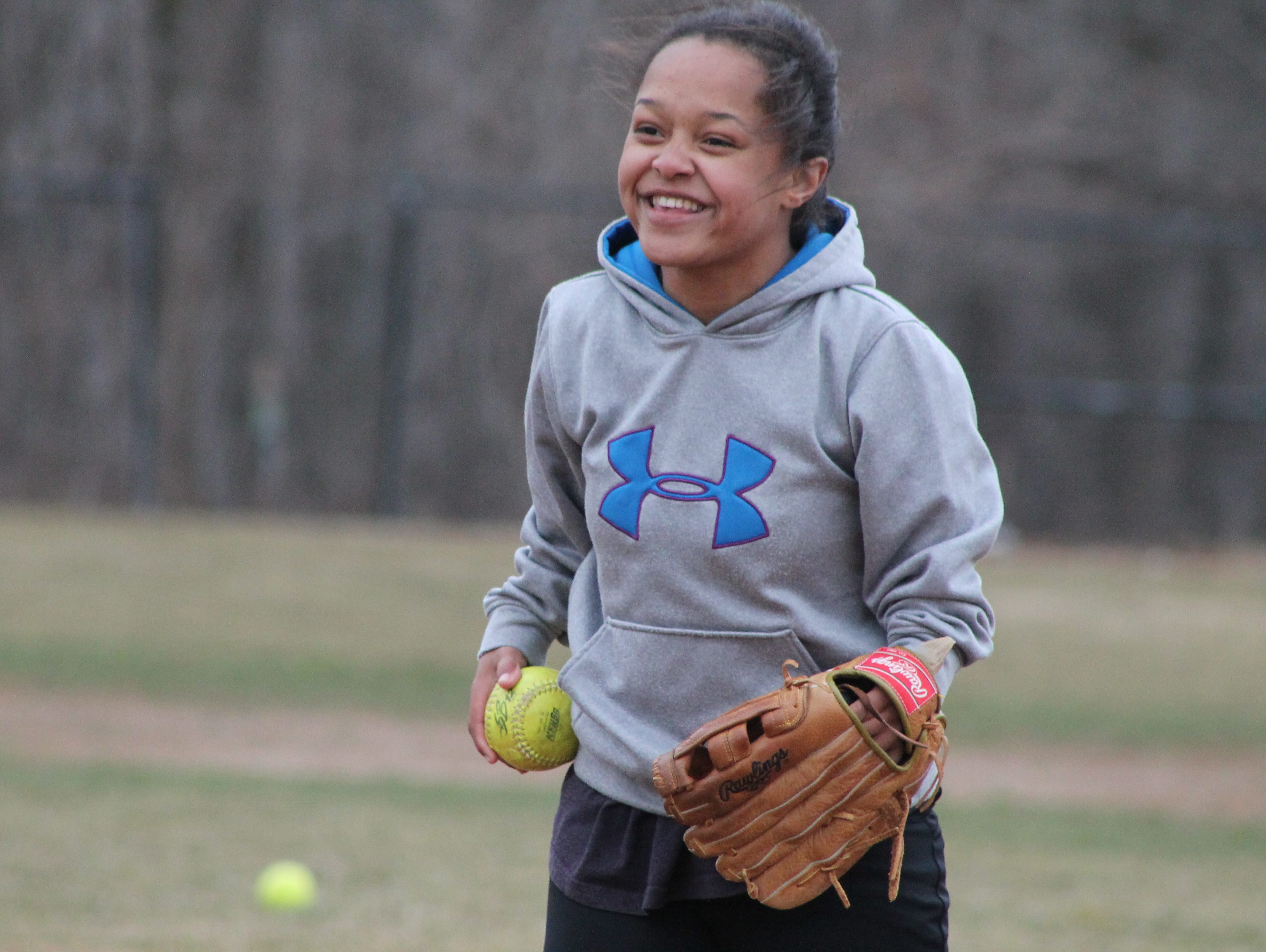 Damascus softball pitcher Sharise Jacob's talent and positive attitude inspire her teammates and coaches.