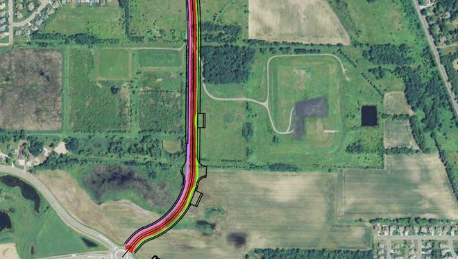 Proposed extension of Fourth Avenue South in Sartell.