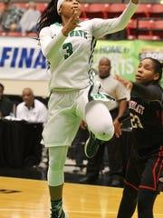 Fort Myers guard Destanni Henderson goes up for a basket