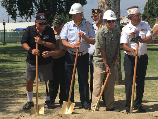 Coachella's veterans gathered in Veterans Park on Friday, June 10, 2016. The $4 million park will include monuments to every branch of the military and honor tiles for those who died in the line of duty,