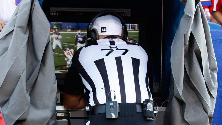 Aug 23, 2014; Orchard Park, NY, USA; NFL referee Terry