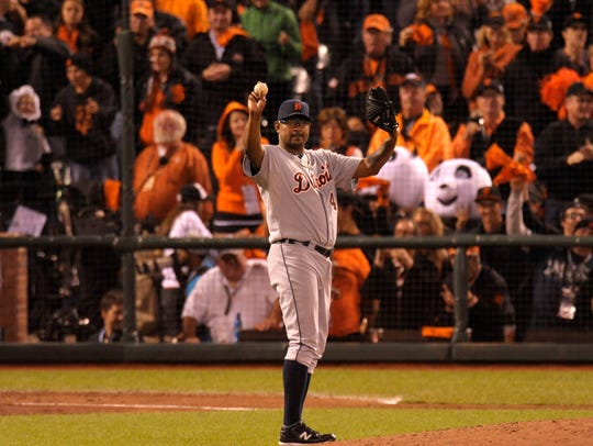 Closer Jose Valverde saved 49 games in as many opportunities