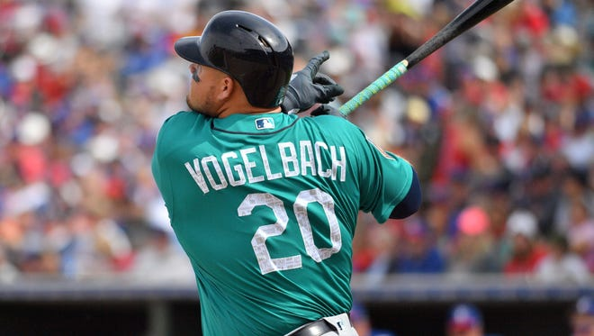 Daniel Vogelbach, who hit six spring training home runs, has made the Mariners' opening day roster. With the need for another pitcher looming in a couple weeks, though, he may not remain in Settle very long.