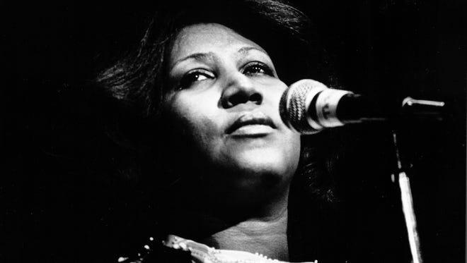 Aretha Franklin:  undated photo by Leni Sinclair
