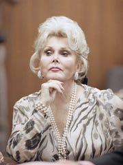 This May 1, 1990, file photo shows Zsa Zsa Gabor in