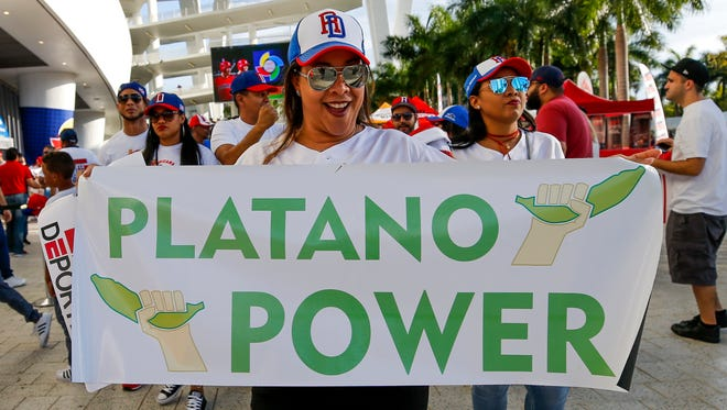 Fans of the Dominican Republic made up a significant portion of the sold-out crowd at Marlins Park on Saturday.