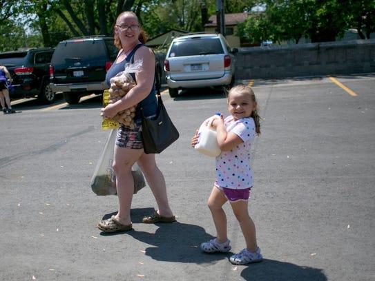 Amanda Spradlin, 31, of Warren and her 4-year-old daughter