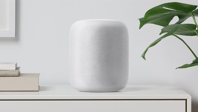 Apple's new HomePod features seven tweeters, one subwoofer and Siri assistance. It debuts in December at $349.