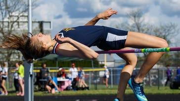 Kettle Moraine's Lexi Nate competes in the high jump during the Classic 8 Conference Championships at Waukesha West on May 12, 2016. Nate, who placed second in the event, returns in 2017.