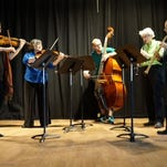 Members of Yellowstone Chamber Players, with guest violinist Megan Karls, far left, are Amy Letson, viola; Ryan Hennessy, contrabass; Sheri Rolf, clarinet; and Sue Logan, oboe.