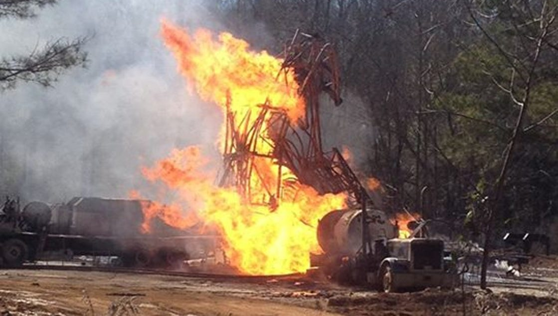 Natural Gas Line Explosion In Smith County