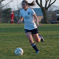 Shalom Christian soccer's Brooke Emge secures long-sought 100th goal