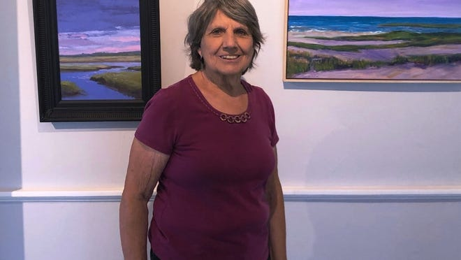 Joanne Westerhouse, who founded the Sandwich Arts Alliance, will stay involved with the organization even as she prepares to move from Sandwich to the North Shore.    Photo by Mark Snyder