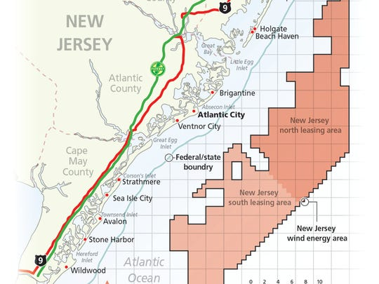 An area of roughly 344,000 acres offshore of New Jersey