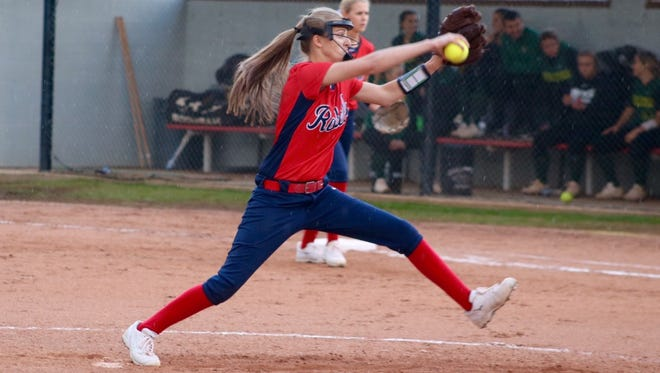 Senior Cassidy Rhea pitched the entire game for West Monroe and gave up 10 hits with four strikeouts.