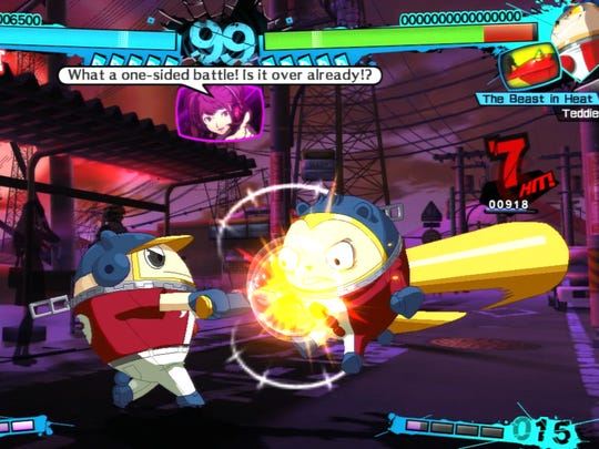 Quick auto combos help newcomers and casuals acclimate to Persona 4 Arena Ultimax's mechanics.