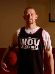 Tanner Omlid, a senior forward, at Western Oregon University