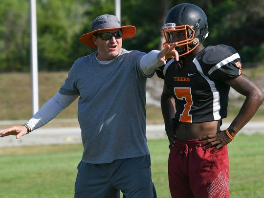 Lance Jenkins, a former head coach at Merritt island High and an assistant at Cocoa High (shown here), among several other stops, coached Raheem Mostert in high school at New Smyrna Beach High.