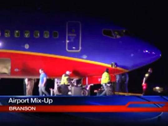 Southwest Airlines flight that landed at the wrong Missouri airport