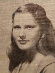 Cunningham school 1956 yearbook photo of Nancy Todd, Henry Garrett's late wife.