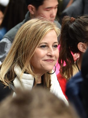 Former Mayor Megan Barry joins the marchers during the March for Our Lives rally in Nashville on March 24, 2018.