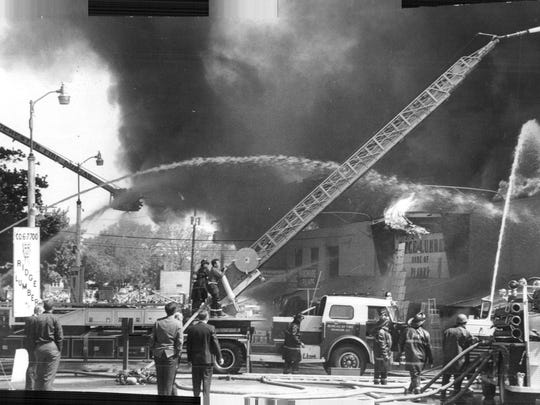Rochester Fires: Ridge Lumber Co. on Hollenbeck Street.