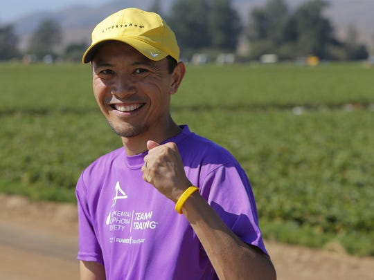 Binzee Gonzalvo, a Salinas native, flew in from Tokyo, Japan Wednesday to participate in Saturday's Salinas Valley Half Marathon. He is a cancer survivor and competes to honor those who have died.