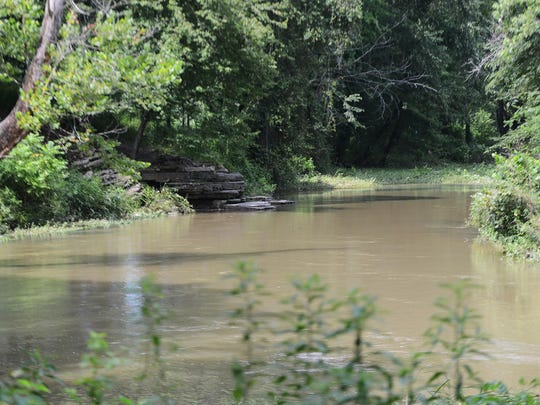 Horse Creek flows on the property of Sheltering Tree Ranch in Savannah. The creek has already been used for baptisms and fishing, and will offer float trips on tire tubes, as well as a place for meditation.