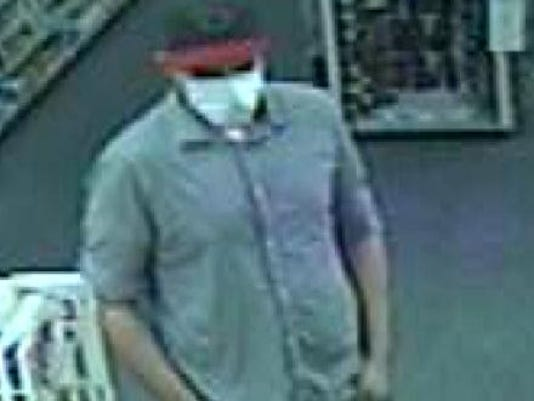 East Valley Robberies - suspect white mask