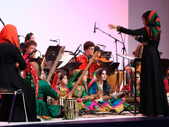 Afghanistan's first all-female orchestra brought the