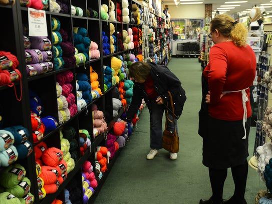 Allison Hischke, Mary Maxim yarn department manager,