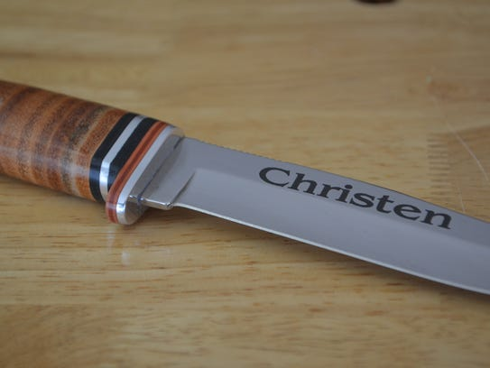 Knives are popular items to engrave.
