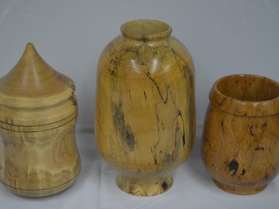 Theres wood turnings are made by Richard Moist