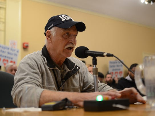 New North End resident Gary Dion urges the City Council