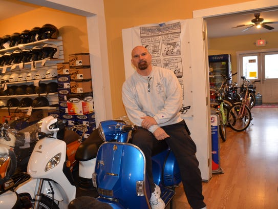 George Panarello, owner of All Wheels Bike & Scooter