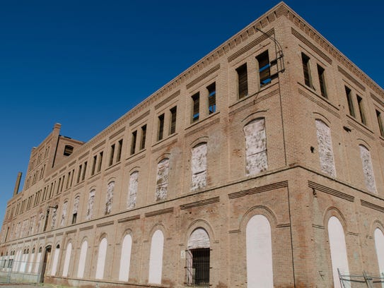 The old Beet Sugar Factory, built in 1906, stands abandoned