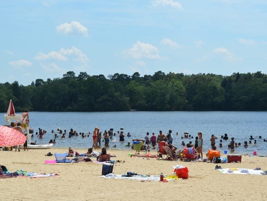 Temperatures soared into the 90s on Saturday and attracted