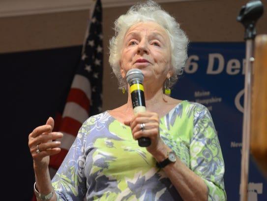 Former Vermont Gov. Madeleine Kunin addresses Democratic